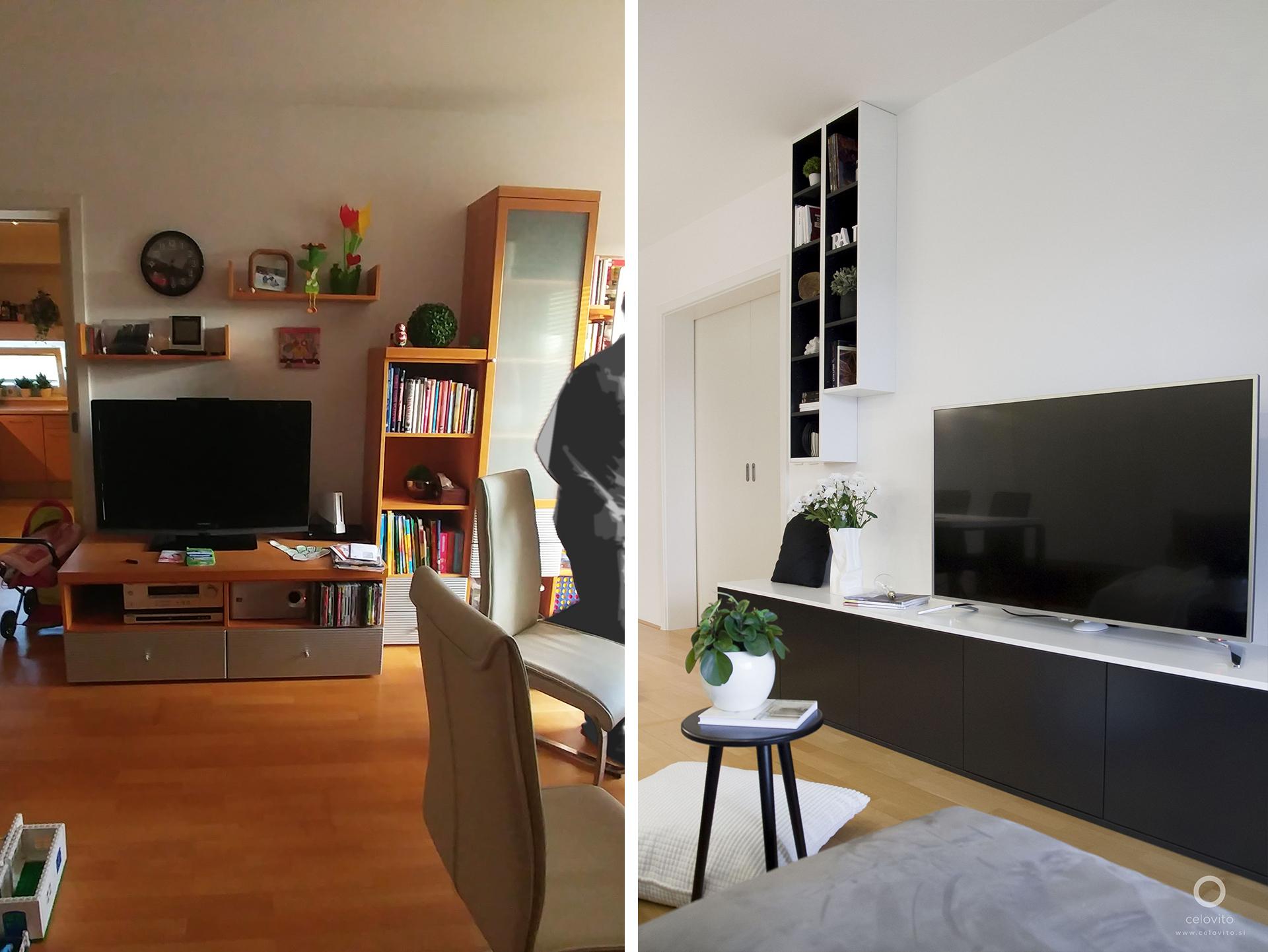 TV omarica pred in po prenovi